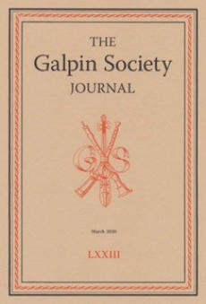 Front cover of Galpin Society Journal